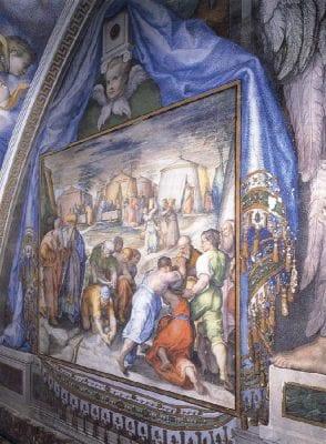 Pellegrino Tibaldi, The Gathering of the Manna, 1586, Sagrario, San Lorenzo de El Escorial, Madrid