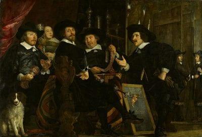 Bartholomeus van der Helst, The Governors of the Longbow (Handboog) Civic Gu, 1653, Amsterdam Museum