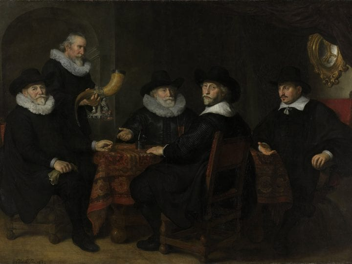 Govert Flinck, Governors of the Arquebusiers Civic Guard Hall, 1642, Rijksmuseum Amsterdam