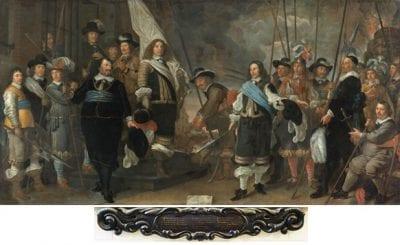 Govert Flinck, Company of Captain Joan Huydecoper and Lieutenant Frans van Waveren Celebrating the Treaty of Münster, 1650, Amsterdam Museum