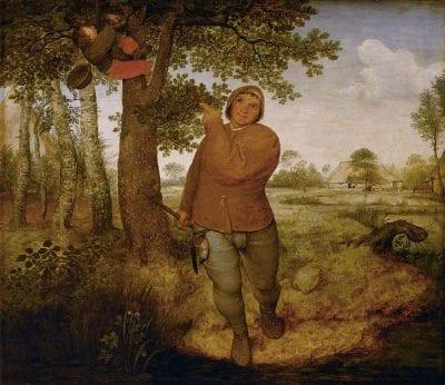 Pieter Bruegel the Elder, Peasant and Nestrobber, 1568, Kunsthistorisches Museum, Vienna