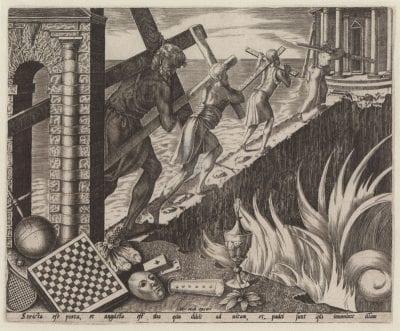 Marten van Heemskerck after an unknown artist, The Narrow Way to Salvation, ca. 1550, Graphische Sammlung, Munich