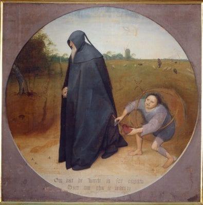 Bruegel the Elder, The Misanthrope, 1568, Museo di Capodimonte, Naples