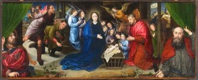 Hugo van der Goes, Adoration of the Shepherds, ca. 1480, Gemäldegalerie, Staatliche Museen zu Berlin