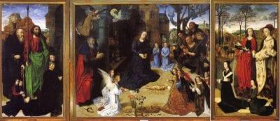 Hugo van der Goes, PortinariTriptych, ca. 1476–79, Galleria degli Uffizi, Florence