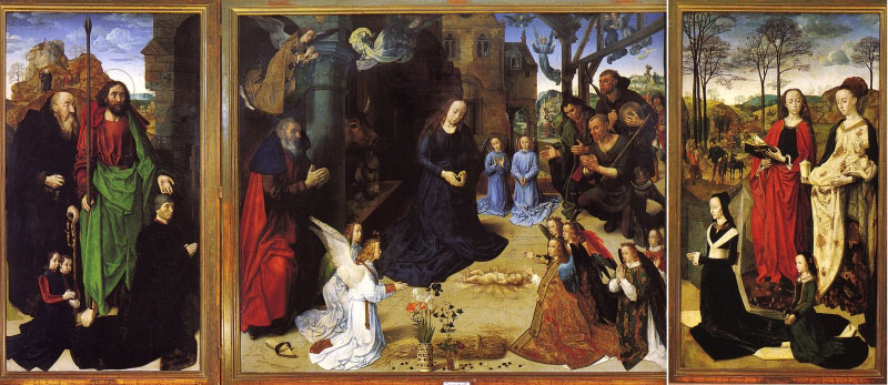 Hugo van der Goes's Adoration of the Shepherds: Between