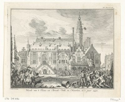 Simon Fokke, Het Kaas-en Broodvolk te Haarlem, 1492, 1750, Rijksmuseum, Amsterdam