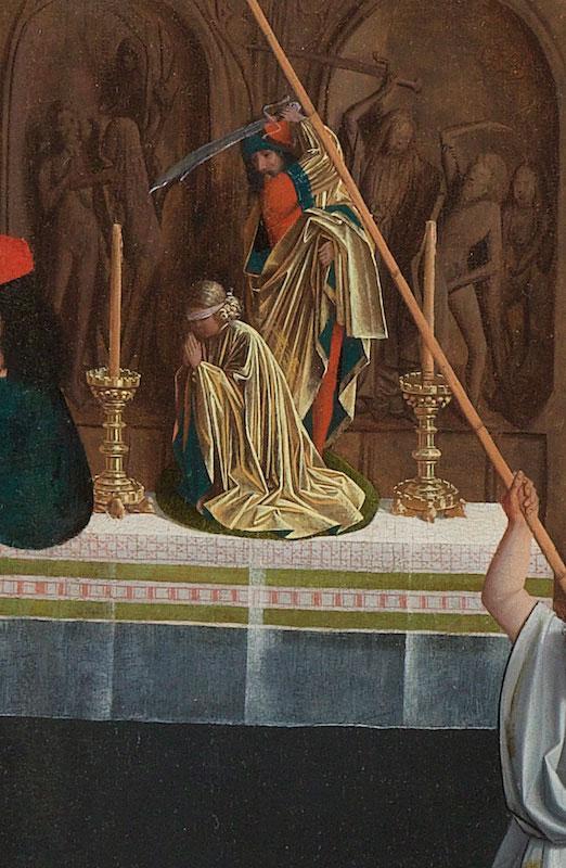 Geertgen tot Sint Jans (or workshop),  Altar with Sacrifice of Isaac, detail of fig. 1., 1496,  Rijksmuseum, Amsterdam