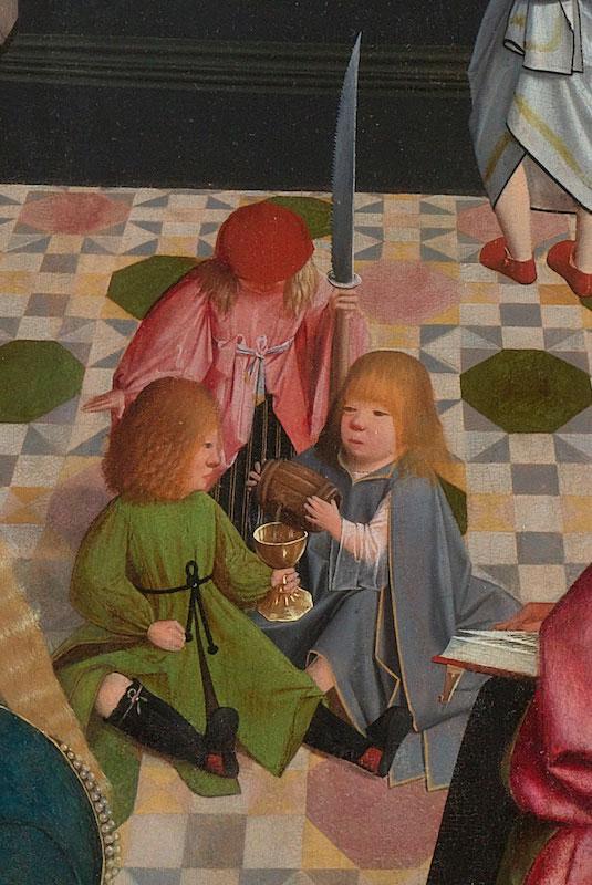 Geertgen tot Sint Jans (or workshop),  James the Greater, John the Evangelist, and Simon, 1496,  Rijksmuseum, Amsterdam