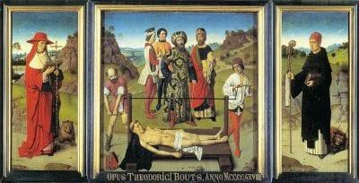 Dieric Bouts, Martyrdom of Saint Erasmus, 1458, Sint-Pieterskerk, Leuven