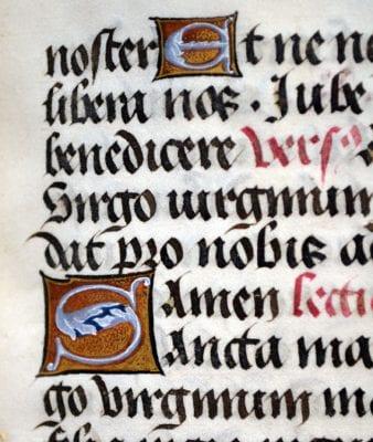 Unknown, Donne Hours: Initials, ca. 1480, Louvain-la-Neuve, Archives de l'Université