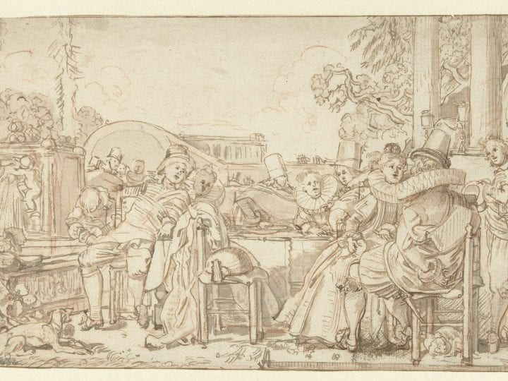 Willem Buytwech,  Merry Company in the Open Air, Rijksmuseum, Rijksprentenkabinet, Amsterdam