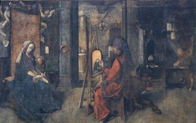 Jan de Beer, Saint Luke Painting the Virgin and Child, ca. 1504–9, Pinacoteca di Brera, Milan