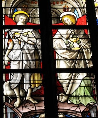Detail of The Two Saints John Window (after a l,  ca. 1525, Cathedral of Our Lady (Onze-Lieve-Vrouwekathedraal), Antwerp
