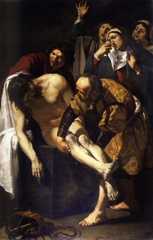 Dirck van Baburen,  The Entombment, 1617,  Pietà Chapel, San Pietro in Montorio, Rome
