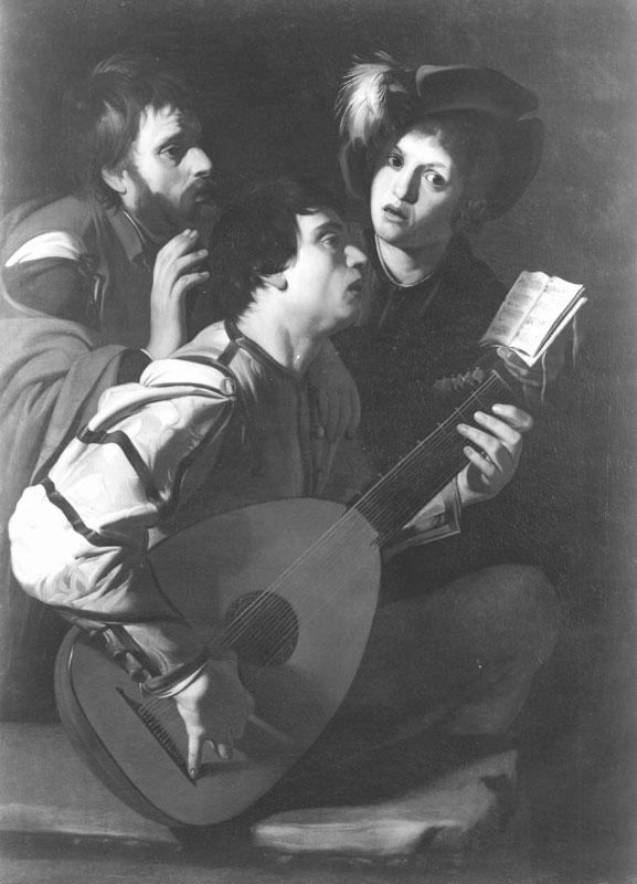 Bartolomeo Manfredi,  The Concert,  ca. 1610–12,  Private Collection