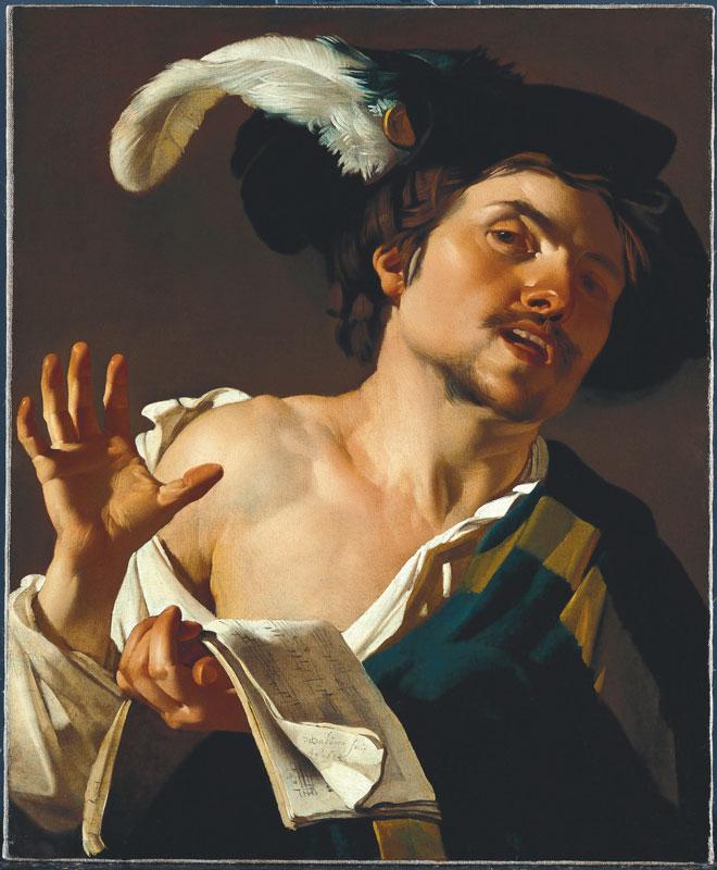 Dirck van Baburen,  Singing Man, 1622,  Städel Museum, Frankfurt am Main