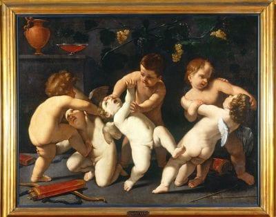 Guido Reni, Wrestling Cupids, Galleria Sabauda, Turin