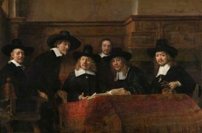 Rembrandt, Staalmeesters, 1662, Rijksmuseum, Amsterdam