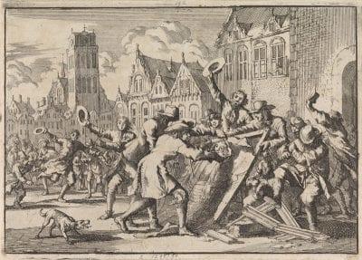 Jan Luyken, The Destruction of Jan de Baen's Allegory on C, Rijksmuseum, Amsterdam
