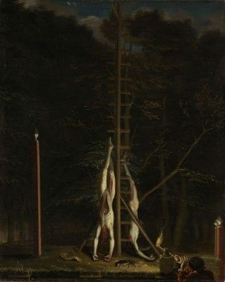 Attributed to Jan de Baen, The Bodies of the Brothers Jan and Cornelis de W, 1672, Rijksmuseum, Amsterdam