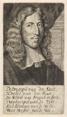 Anthony de Vos after Jan de Baen, Portrait of Johan de Witt(with accompanying ve, Rijksmuseum, Amsterdam