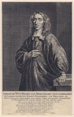 Hendrik Bary after Caspar Netscher, Portrait of Johan de Witt(with a laudatory poe, Rijksmuseum, Amsterdam