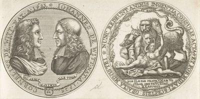 Anonymous, Medal in Praise of Cornelis and Johan de Witt, Rijksmuseum, Amsterdam