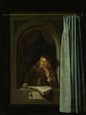 Gerrit Dou,  Painter with Pipe and Book, 1645–50, Rijksmuseum, Amsterdam
