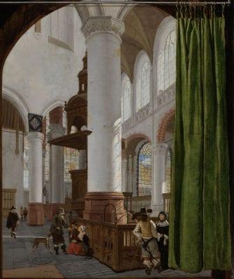 Gerard Houckgeest, Interior of the Oude Kerk in Delft, ca. 1651, Rijksmuseum, Amsterdam