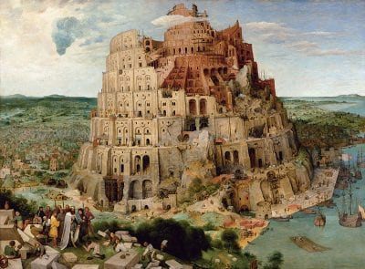 Pieter Bruegel the Elder,  The Tower of Babel, 1563, Kunsthistorisches Museum, Gemäldegalerie, Vienna