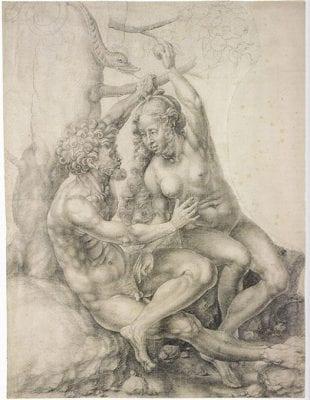 Jan Gossart, Adam and Eve, ca. 1515, Museum of Art, Rhode Island School of Design, Providence