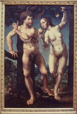 Jan Gossart, Adam and Eve, ca. 1525–30, Staatliche Museen zu Berlin, Gemäldegalerie