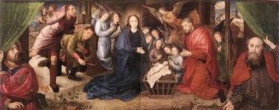 Hugo van der Goes, Adoration of the Shepherds, ca. 1480, Staatliche Museen zu Berlin, Gemäldegalerie