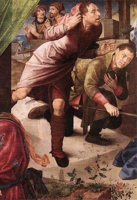 Hugo van der Goes, Adoration of the Shepherds, detail, ca. 1480, Staatliche Museen zu Berlin, Gemäldegalerie