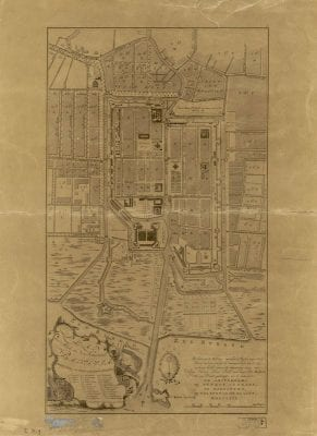 Unknown,  Plan der Stad en 't Kasteel Batavia (made und, 1770, Leiden University Library