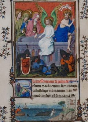 John the Baptist Group and others,  Resurrection of Christ, fol. f.77v from the Tu, ca. 1445–52, Museo Civico d'Arte Antica, Turin