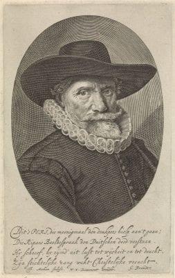 Theodor Matham, Portrait of Dirck Pietersz Pers, ca. 1665, Rijksmuseum, Amsterdam