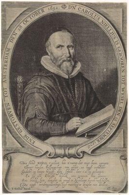 Crispijn van de Passe, after Thomas de Keyser, Portrait of Carolus Niellius, after 1652, Rijksmuseum, Amsterdam