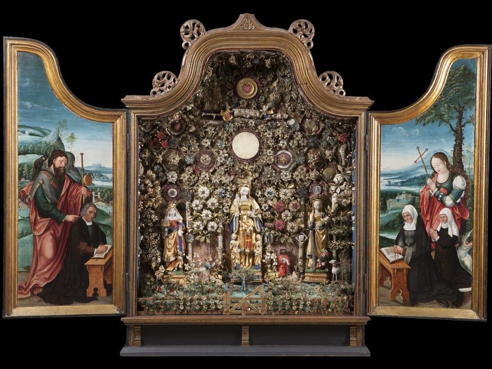 Unknown Mechelen, Besloten Hofje with Saint Elizabeth of Hungary, Sa, 1513–24 (?), Musea & Erfgoed Mechelen, Collectie Gasthuiszusters, Onze-Lieve-Vrouw Waver, Brussels; on long-term loan from the Augustinian Sisters of Mechelen