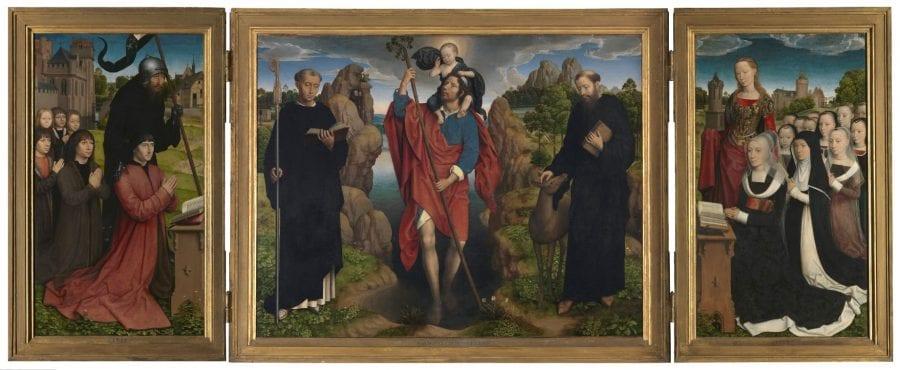Hans Memling, Triptych of Willem Moreel and Barbara Van Valender, 1484, Groeninge Museum, Bruges