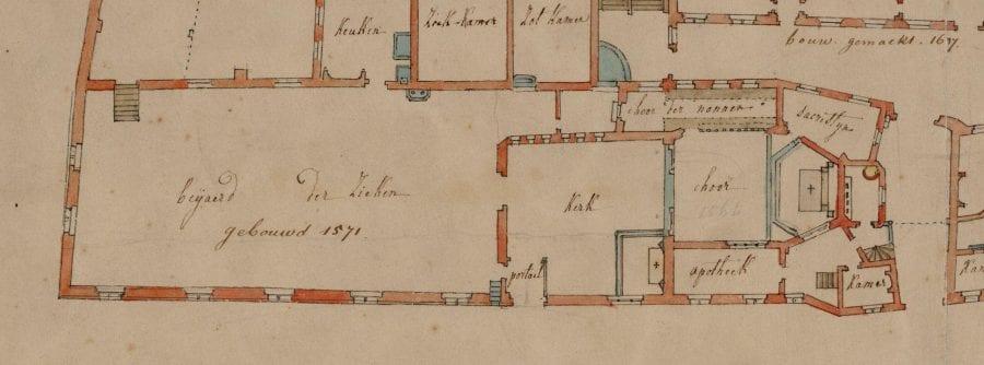 Unknown, Plan of Onze-Lieve-Vrouwegasthuis, Mechelen (detai, Stadsarchief, Mechelen, beeldbankmechelen.be