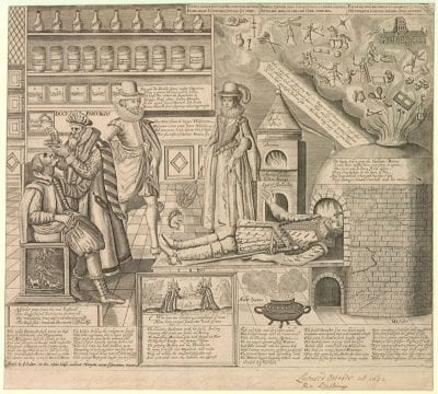 Martin Droeshout,  To This Grave Doctor Millions Do Resort, ca. 1620–30, British Museum, London