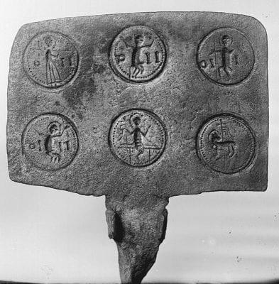 Unknown, Eucharist wafer iron, ca. 1390–1410, Statens Historiska Museum (Museum of National Antiquities), Stockholm