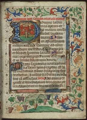 Unknown, Incipit of the Hours of the Cross, with round off, Meermanno Museum, The Hague