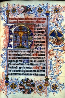 Unknown, Incipit of the Short Hours of the Cross, with a L, Bodleian Library, Oxford