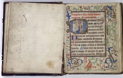 Unknown, Leaf ruled for an image (never filled in) with at, Koninklijke Bibliotheek, The Hague