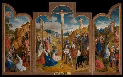 Justus van Ghent, The Crucifixion, ca. 1460/65, Saint Bavo Cathedral, Ghent