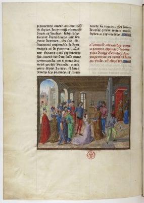 Justus van Ghent, Livre des faits d'Alexandre le grant,fol. 19, after 1470, Bibliothèque nationale de France, Paris