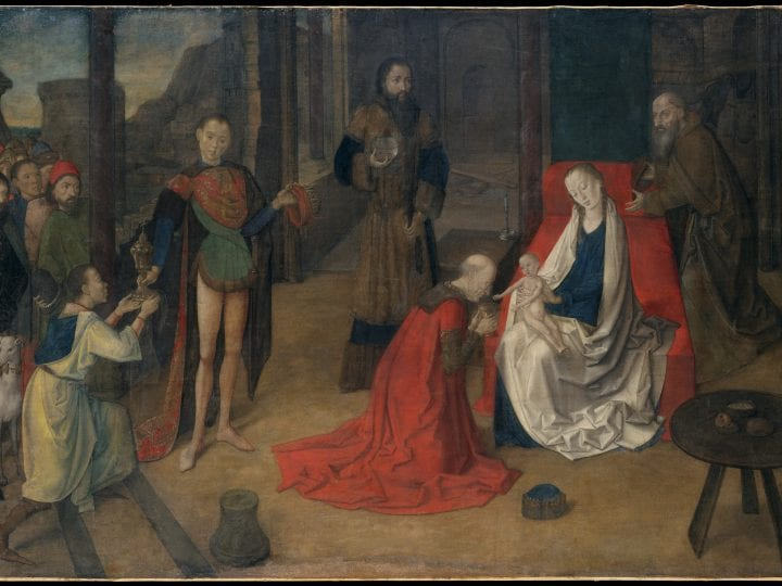 A Tuchlein By Justus Van Ghent The Adoration Of The Magi In